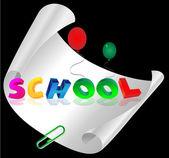 školy dopisy — Stock vektor