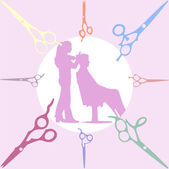Scissors vector silhouettes — Stock Vector