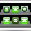 Royalty-Free Stock Vectorielle: Free call green app icons.