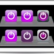 Royalty-Free Stock Vector Image: Power purple app icons.