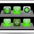 Royalty-Free Stock Vector Image: Sight green app icons.