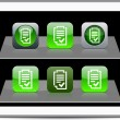 Form green app icons. - Stock Vector