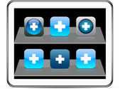 Plus blue app icons. — Stock Vector