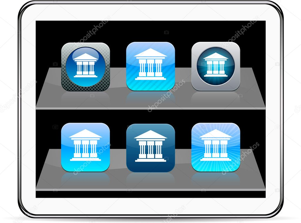 Exchange Set of apps icons. Vector illustration doesn't contain transparency and other effects. EPS8 Only. . — Stock Vector #6118579