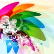 Royalty-Free Stock Vector Image: Beautiful multicolor background with decorative elements