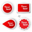 Royalty-Free Stock Vector Image: Red vector sticker for text