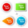 Royalty-Free Stock Imagen vectorial: Colorful vector sticker for text