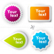 Colorful vector sticker for text — Stock Vector