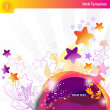 Colorful bubbles and stars — Stock Vector