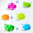 Royalty-Free Stock Векторное изображение: Colorful paper bubble for speech
