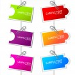 Royalty-Free Stock Vector Image: Colorful paper card with clip