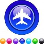 Aircraft circle button. — Stock Vector #6128242