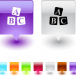 Royalty-Free Stock Vector Image: ABC cubes square button.