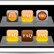 FAQ orange app icons. - Stock Vector