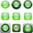 Planet green app icons. — Stock Vector
