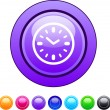 Time circle button. — Vector de stock  #6128922
