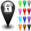 Unlock button. — Stok Vektör #6128948