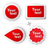 Red vector sticker for text — Stock Vector