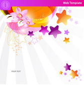 Colorful star background — Stok Vektör