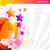 Colorful star background — Stock vektor