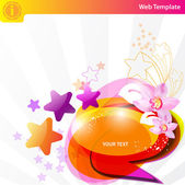 Colorful star background — Vetorial Stock