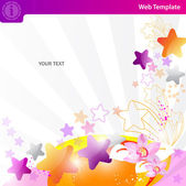 Colorful star background — Vector de stock