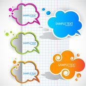 Paper cloud bubble for speech — Stock Vector