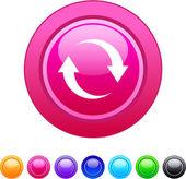 Refresh circle button. — Stock Vector