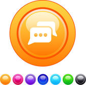 Chat-Kreis-button. — Stockvektor