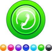 Cercle bouton d'appel. — Vecteur