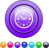 Time circle button. — Stock Vector