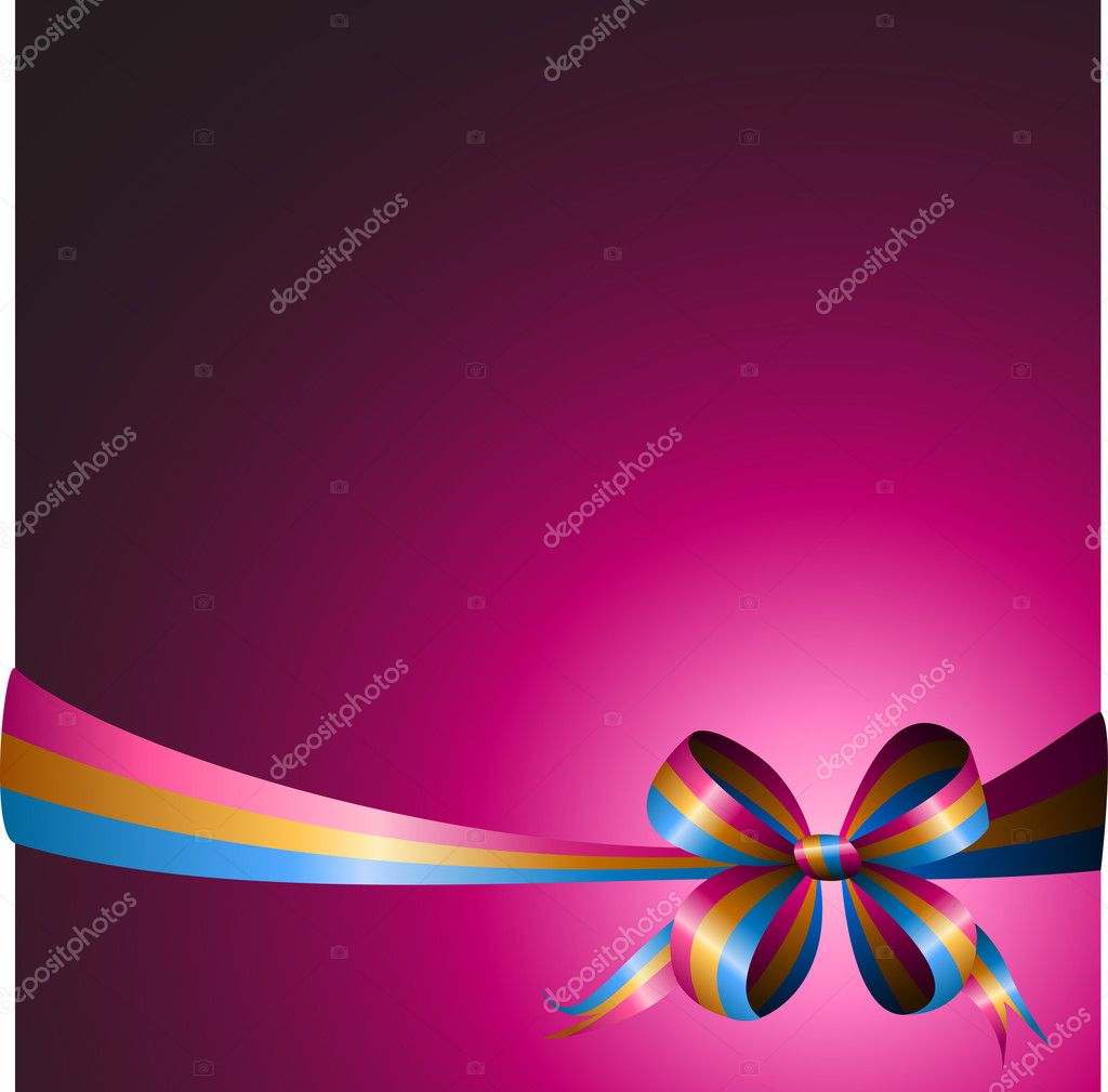 Multicolored ribbon on a bright background  Stock Vector #6127655