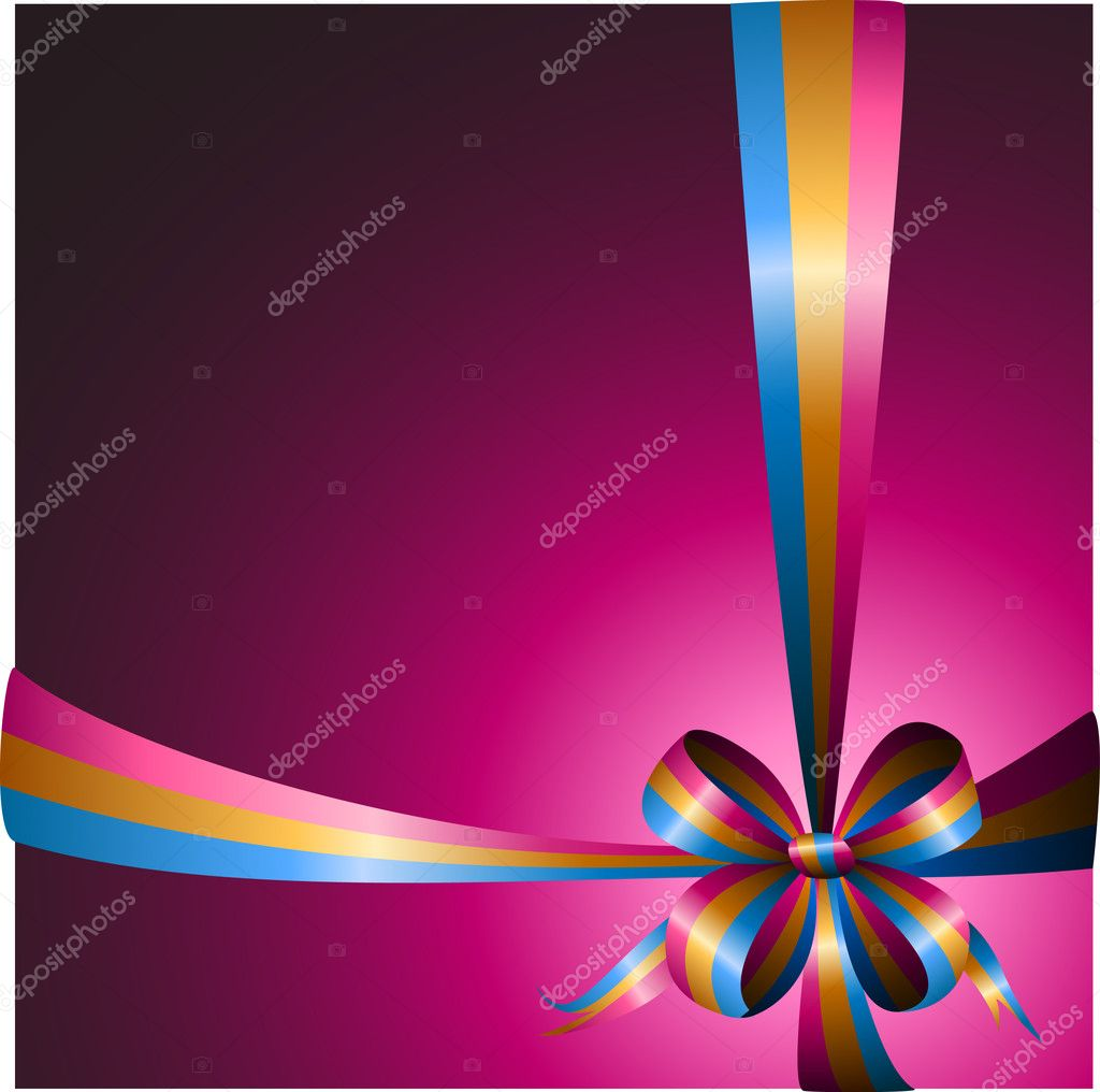 Multicolored ribbon on a bright background — Stock Vector #6127659