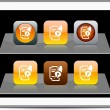 Form and pen orange app icons. — Vecteur #6143140
