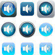 Sound blue app icons. — Stock Vector #6143185