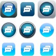 Royalty-Free Stock Vector Image: Chat blue app icons.
