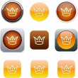 Crown orange app icons. — Stock Vector