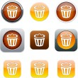 Dustbin orange app icons. — Stock Vector