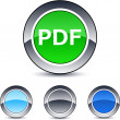 PDF round button. — Stockvektor