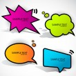 Colorful cloud bubble for speech — Image vectorielle