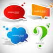 Royalty-Free Stock Imagen vectorial: Colorful paper bubble for speech