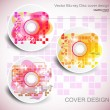 Vector CD cover design. Editable templates. - Stok Vektör