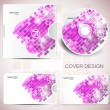Stock Vector: Vector CD cover design. Editable templates.