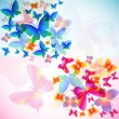 Stock Vector: Colorful background with butterfly