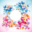 Elegant butterfly background with space for text — Stock Vector