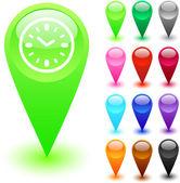 Time button. — Stock Vector