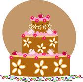 蛋糕图. — 图库矢量图片