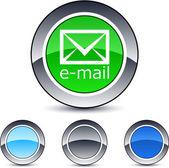 E-mail round button. — Stock Vector