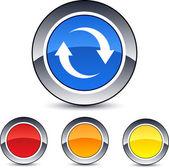 Refresh round button. — Stock Vector
