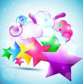 Beau fond d'étoile. eps10 — Vecteur